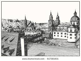 Medieval Cathedral Floor Plan Poland Krakow St Marys Church Hand Stock Vector 469073462