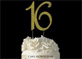rhinestone number cake toppers 4 1 2 large number 16 rhinestone sweet 16 cake topper gold