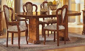 walnut dining room chairs milady 7pc dining room set in walnut high gloss by esf