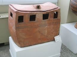 a smal house maid by pottery 5th millenium bc from semnan