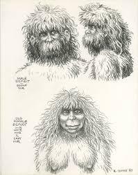 male and female bigfoot character design 1987 robert crumb
