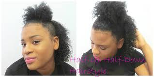 easy half up half down hairstyle curly natural hair youtube