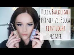 becca first light primer becca first light primer vs becca backlight priming filter review
