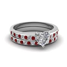 ruby wedding rings channel with ruby wedding set in 14k white gold