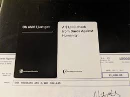 where to buy cards against humanity cards against humanity sends checks to their lowest earning