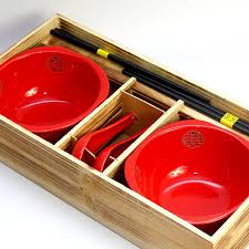 wedding gift japanese japanese style wooden gift box and wind bowl set of 6 flanging