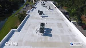 Apoc Elastomeric Roof Coating by Roof Coating Replacing Damaged Polyurethane Foam In Melbourne Fl