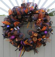Deco Mesh Halloween Wreath Ideas by Halloween Deco Mesh Wreath Halloween Decor Spider Wreath Halloween