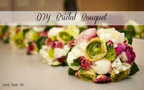 diy bridal bouquet small town our wedding details diy bridal bouquet