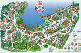 Six Flags New England Park Map Geauga Lake Maps