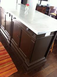 buffet kitchen island diy kitchen island made from raising a craigslist buffet up to