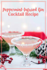 martini recipe peppermint infused gin cocktail a side of sweet
