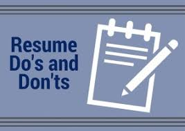 Resume Dos And Donts The Do U0027s And Don U0027ts Of It Resumes