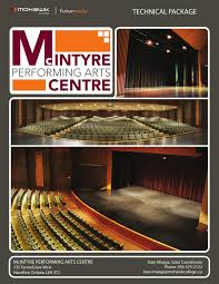 sony centre floor plan mcintyre performing arts centre technical package by mohawk
