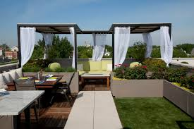 Concrete Pergola Designs by Exterior Design Horizontal Fence With Wood Bench And Rustic Table