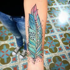 tattoo pictures color 30 cutest feather tattoos to dazzle you