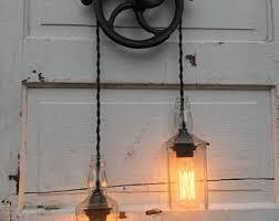 Pulley Pendant Light Pulley Light Etsy