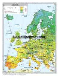 Modern Europe Map by Stockmapagency Com Maps Of Western Europe Offered In Poster Print