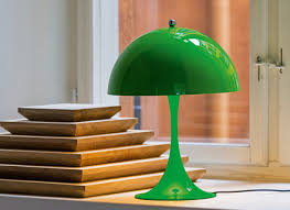 antique brass bankers desk lamp with traditional green glass