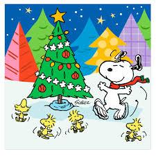 snoopy woodstock u0026 his pals dancing around the christmas tree