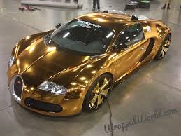 golden lamborghini gold wrapped bugatti copy recently h r owen and lamborghini in