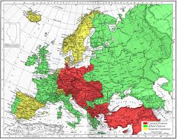 Map Of Eurpoe Map Of Europe Wwi Red Green Yellow Design Pinterest Wwi