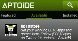 aptoide store apk bb10 store on aptoide blackberry forums at crackberry