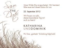 save the date sprüche save the date karten mit schilf wir