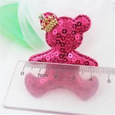 hair bow center newest sequin glitter crown animal patch doll