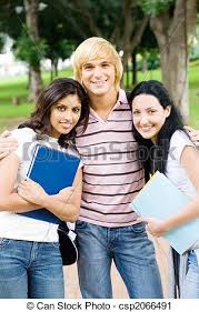 classmates search three classmates hugging and posing stock photography search