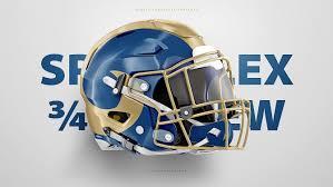 rams riddell speedflex football helmet free psd template mockup