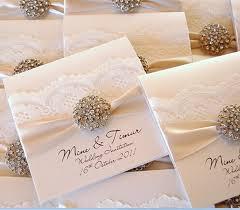 Beautiful Wedding Invitations Elegant Wedding Invitations With Rhinestones Casadebormela Com