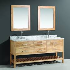 design element london 72 inch oak finish double sink vanity set