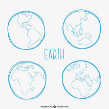 earth sketches vector free download