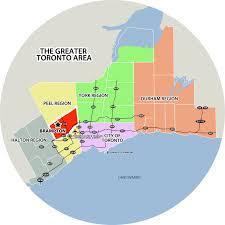 Southwest Canada Map by City Of Brampton Tourism Brampton Maps