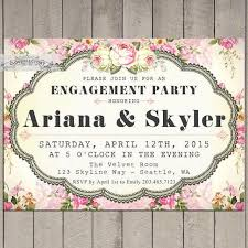 pink engagement party invitations printable invite garden party