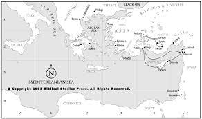 New Testament Map The Synoptic Gospels