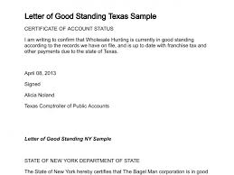 Good Account Pictures Letter Of Good Standing