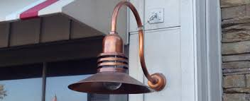 Outdoor Gooseneck Light Fixture by Lighting Design Ideas Copper Gooseneck Barn Light In Outdoor Arm