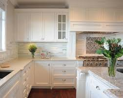 Kitchen Backsplash With White Cabinets by White Tile Backsplash Design Ideas