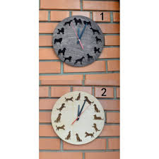 New Home Gift by Dog Pet Lover Gift Wall Wooden Engraved Wall Clock Art Decor