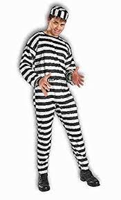 prisoner costume forum novelties men s striped prisoner costume black