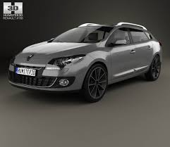 renault megane estate renault megane estate 2012 3d model hum3d