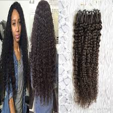 beaded hair extensions hair afro curly micro loop human hair
