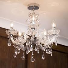 Glass Chain Chandelier Marie Therese Chandelier 5 Light Dual Mount Chrome From Litecraft