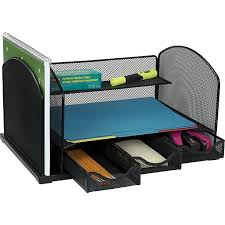Staples Desk Organizers Staples Mesh Metal Desk Organizer With Drawers 8 1 4 H X 11 1 2 W
