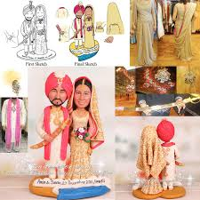 indian cake topper with tikka bangles kaleeray duputta kirpan etc