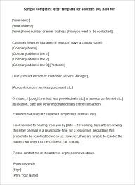 Sample Formal Resume by Sample Formal Complaint Letters Against A Person Compudocs Us