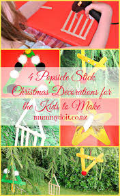 4 popsicle stick christmas decorations for the kids to make