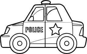 toy car police coloring wecoloringpage